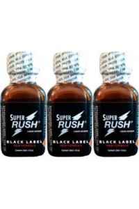 Poppers Super Rush black label 24 ml par 3