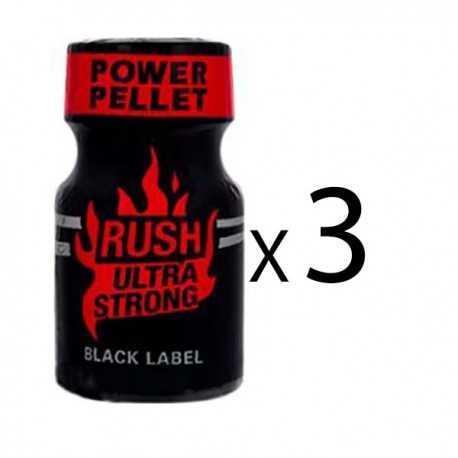 Poppers Rush Ultra Strong black label 9 ML par 3